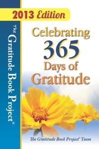 "Celebrating 365 Days of Gratitude (2013 ed.) - ""Second Chances"""