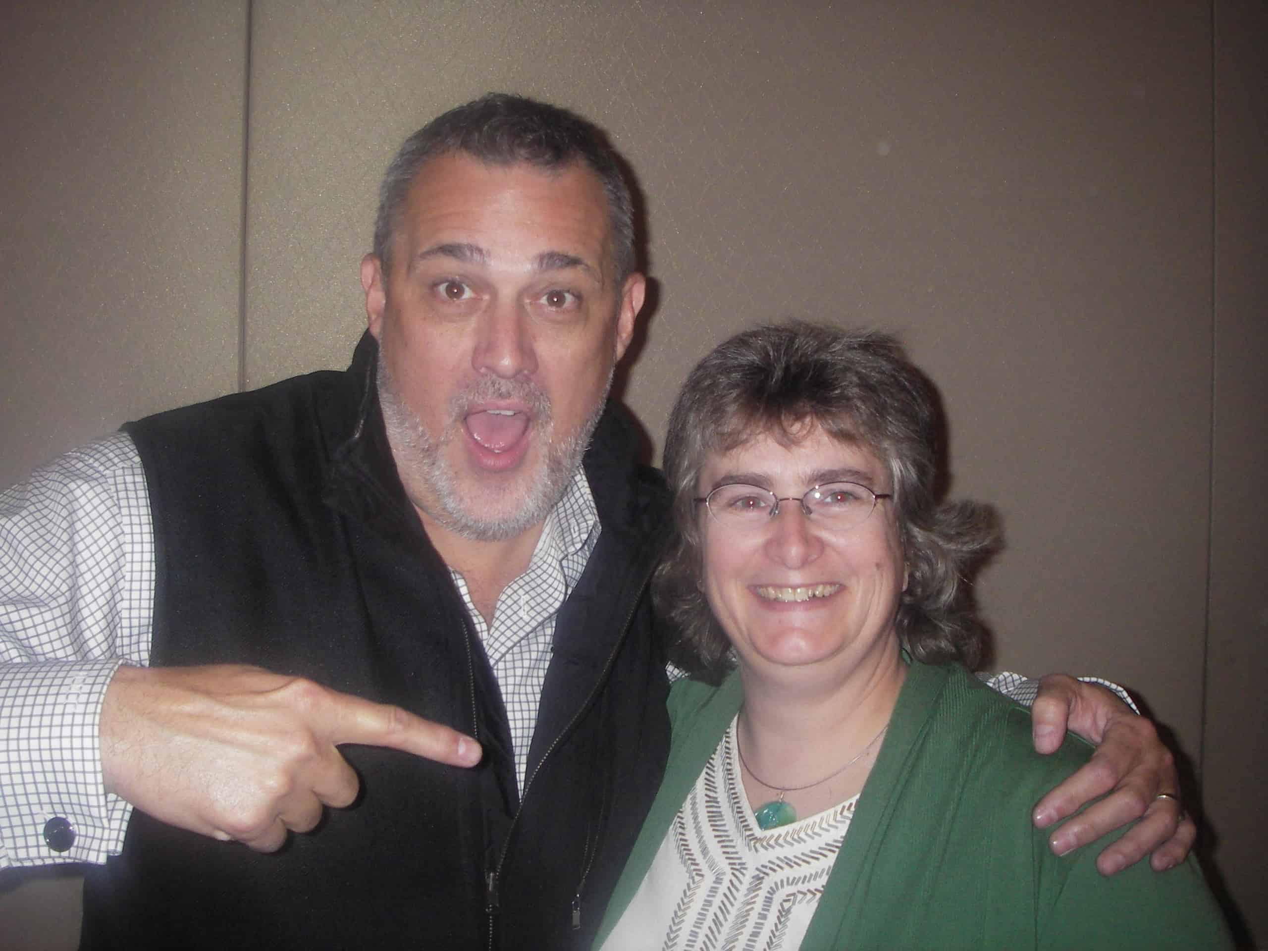 Tara R. Alemany with Jeffrey Hayzlett from The Hayzlett Group