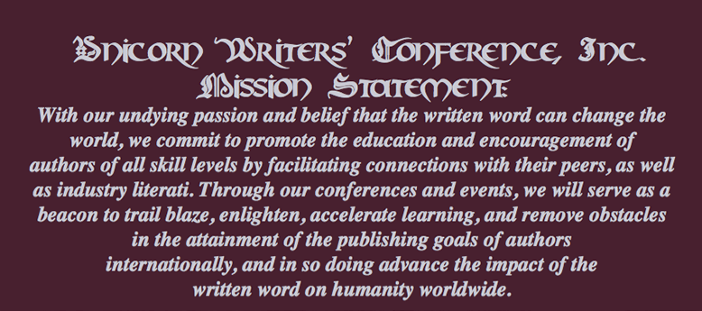 Unicorn Writers Conference mission statement